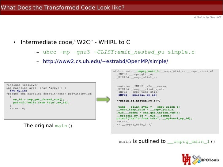What Does the Transformed Code Look like?                                                                                 ...