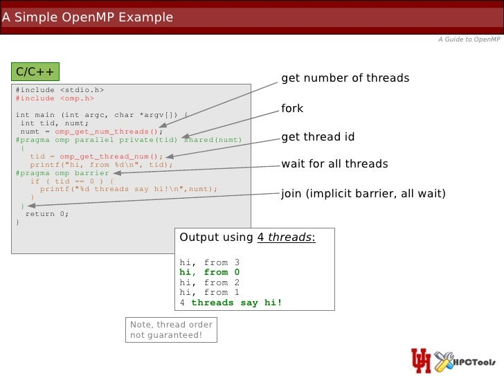 A Simple OpenMP Example                                                                                  A Guide to OpenMP...