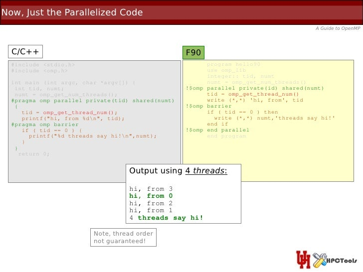 Now, Just the Parallelized Code                                                                                       A Gu...
