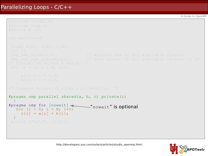 Parallelizing Loops - C/C++                                                                                       A Guide ...