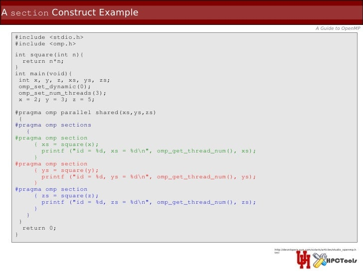 A section Construct Example                                                                                               ...