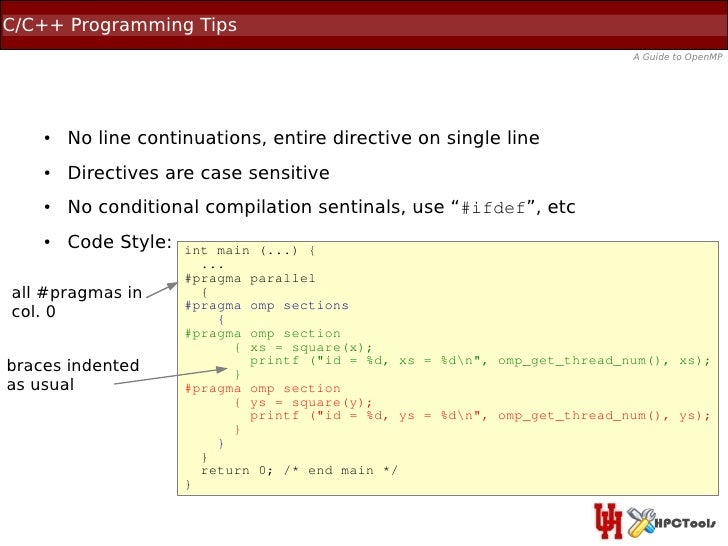 C/C++ Programming Tips                                                                            A Guide to OpenMP    ●  ...