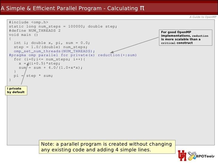 A Simple & Efcient Parallel Program - Calculating         π                                                               ...