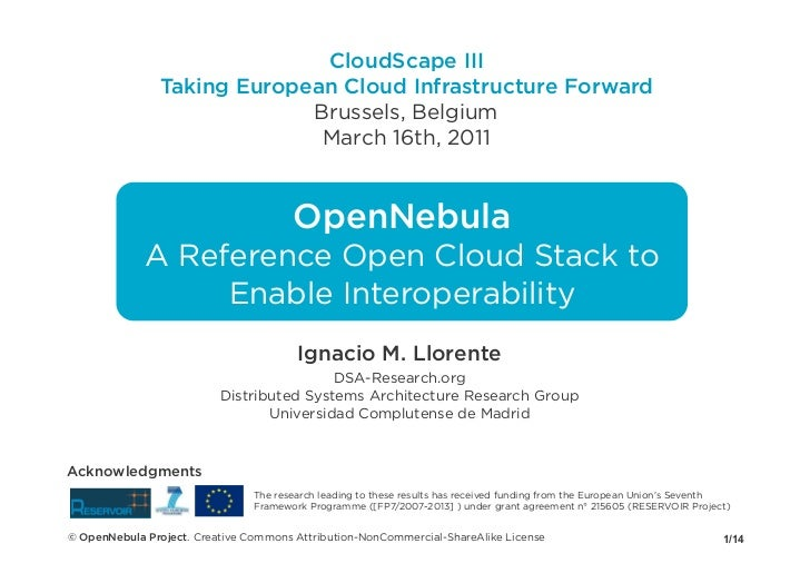 CloudScape III                Taking European Cloud Infrastructure Forward                             Brussels, Belgium  ...