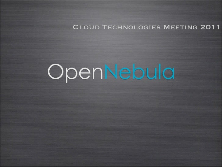 Cloud Technologies Meeting 2011