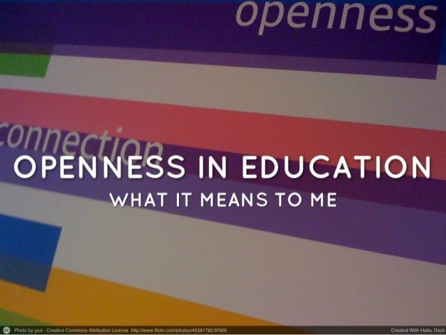 Openness in education