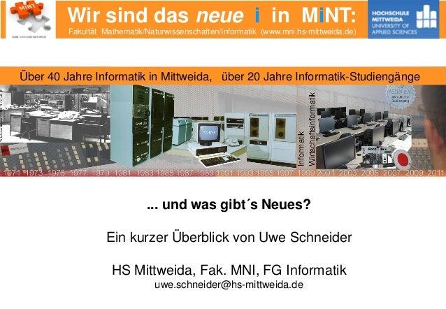 Wir sind das neue i in MiNT:Fakultät Mathematik/Naturwissenschaften/Informatik (www.mni.hs-mittweida.de)Fakultät Mathemati...