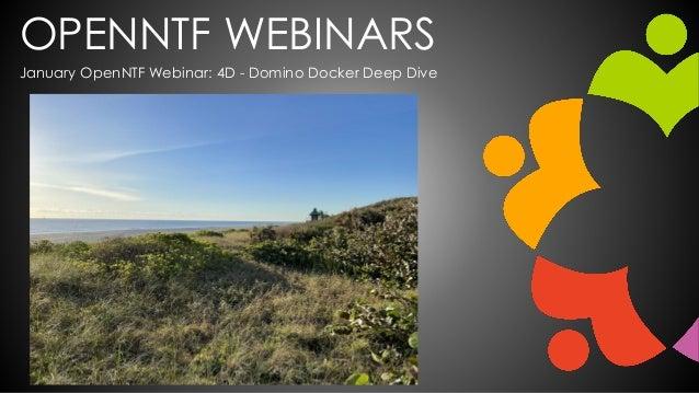 OPENNTF WEBINARS January OpenNTF Webinar: 4D - Domino Docker Deep Dive