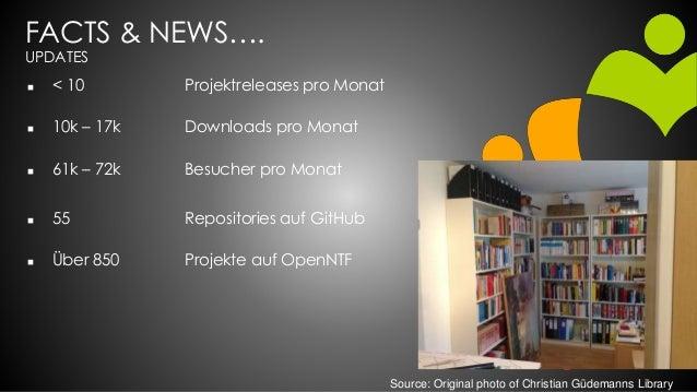 FACTS & NEWS…. UPDATES  < 10 Projektreleases pro Monat  10k – 17k Downloads pro Monat  61k – 72k Besucher pro Monat  5...