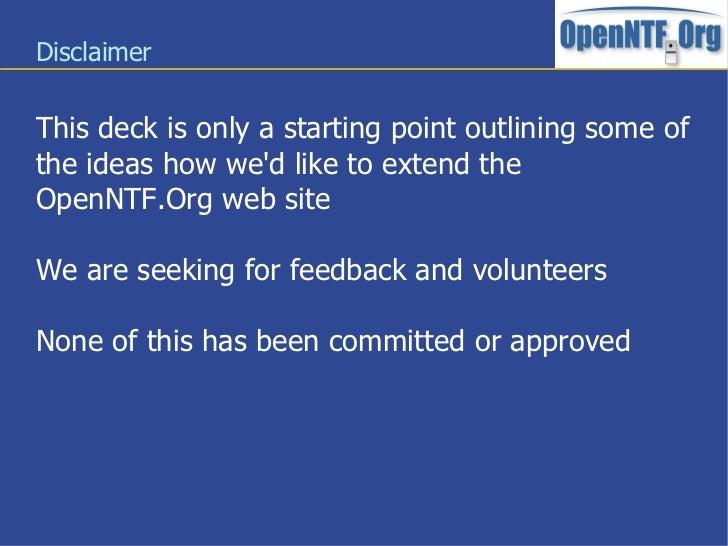 OpenNTF.Org Third Generation Slide 2