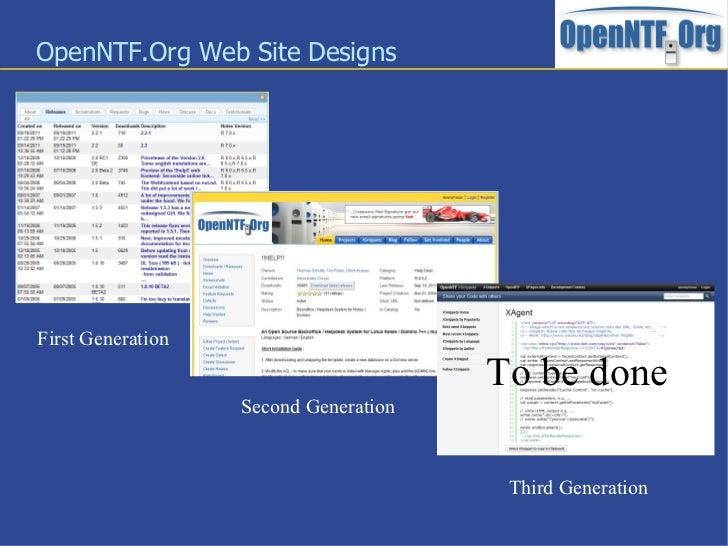 OpenNTF.Org Third Generation Slide 3