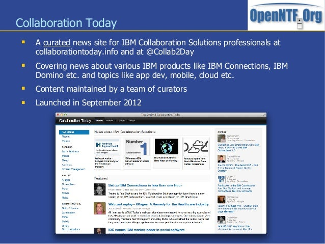 Collaboration Today A curated news site for IBM Collaboration Solutions professionals atcollaborationtoday.info and at @C...