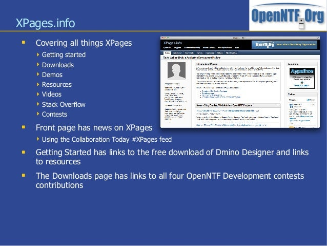 XPages.info Covering all things XPages Getting started Downloads Demos Resources Videos Stack Overflow Contests F...