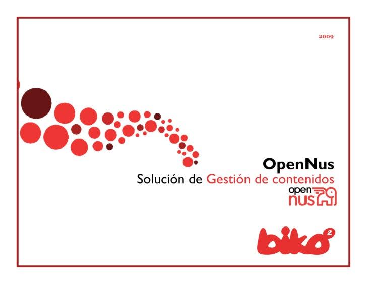 2009                         OpenNus Solución de Gestión de contenidos
