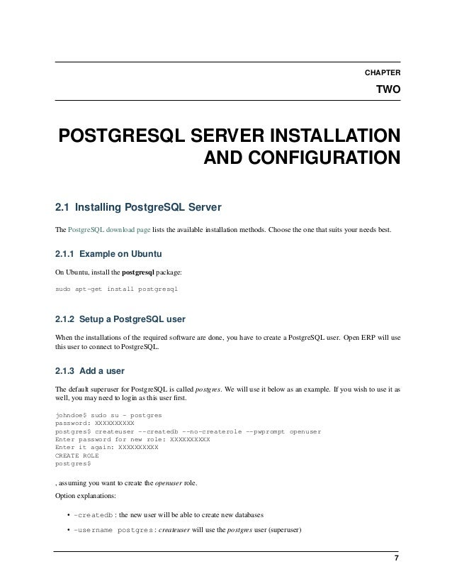 9 CHAPTER THREE OPENERP CLIENT INSTALLATION 3.1 Installing the required packages You need to install python (at least vers...