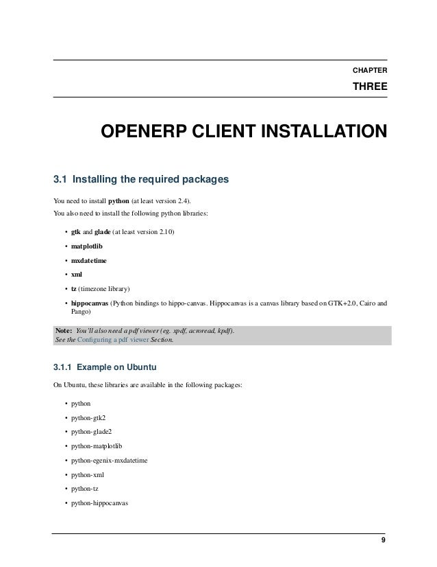 Open Object Installation Manuals, Release 1.0 3.5. Configuring a pdf viewer 11 for previewing PDF. The client will try to fi...