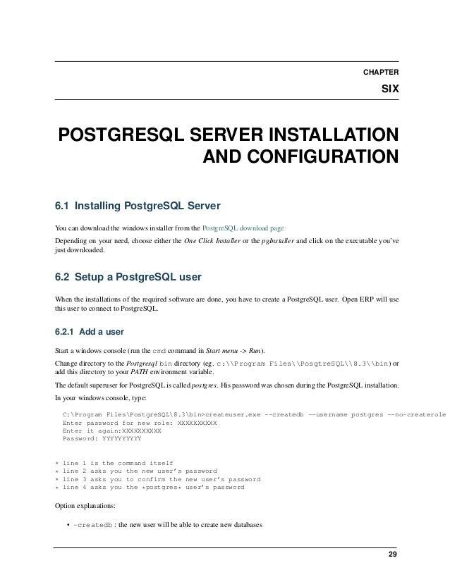 Open Object Installation Manuals, Release 1.0 32 Chapter 7. Open ERP Client Installation 7.2.1 Starting the Open ERP clien...