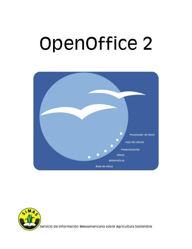 OpenOffice 2 Servicio de Información Mesoamericano sobre Agricultura Sostenible