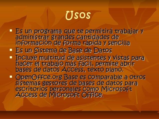 Openoffice base Slide 3