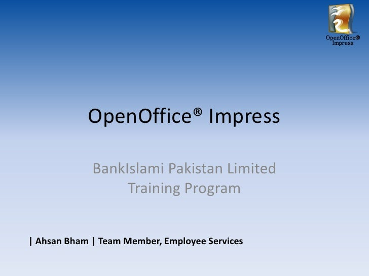 Open Office - Impress Tutorial