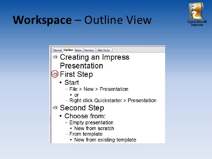 open office - impress tutorial, Presentation templates