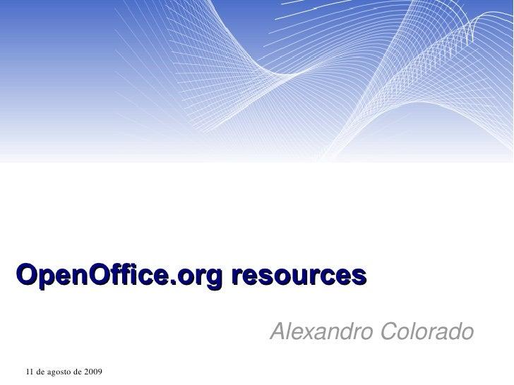 OpenOffice.org resources Alexandro Colorado