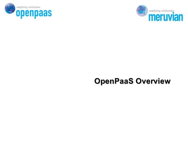 OpenPaaS Overview