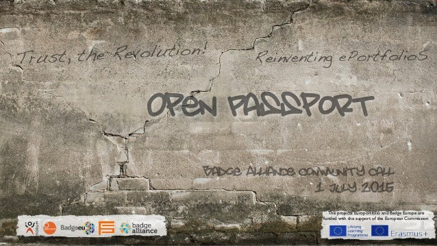 Open PassportEUROPORTFOLIO The projects Europortfolio and Badge Europe are funded with the support of the European Commiss...