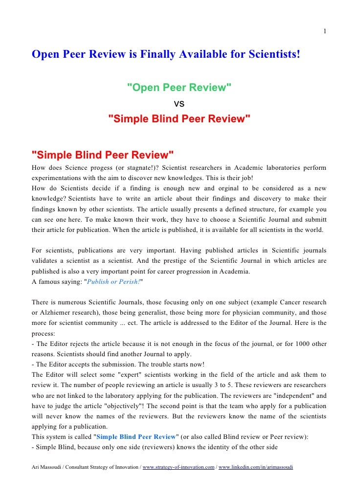 "1Open Peer Review is Finally Available for Scientists!                                    ""Open Peer Review""              ..."
