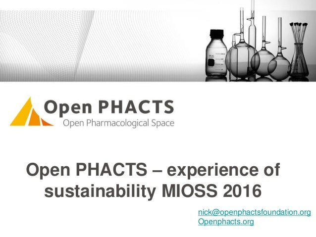 Open PHACTS – experience of sustainability MIOSS 2016 nick@openphactsfoundation.org Openphacts.org
