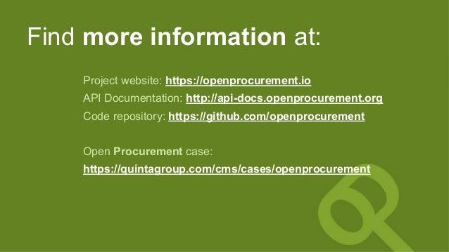 Find more information at: Project website: https://openprocurement.io API Documentation: http://api-docs.openprocurement.o...