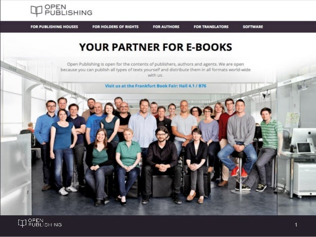 Open Publishing Distribution Slide 1