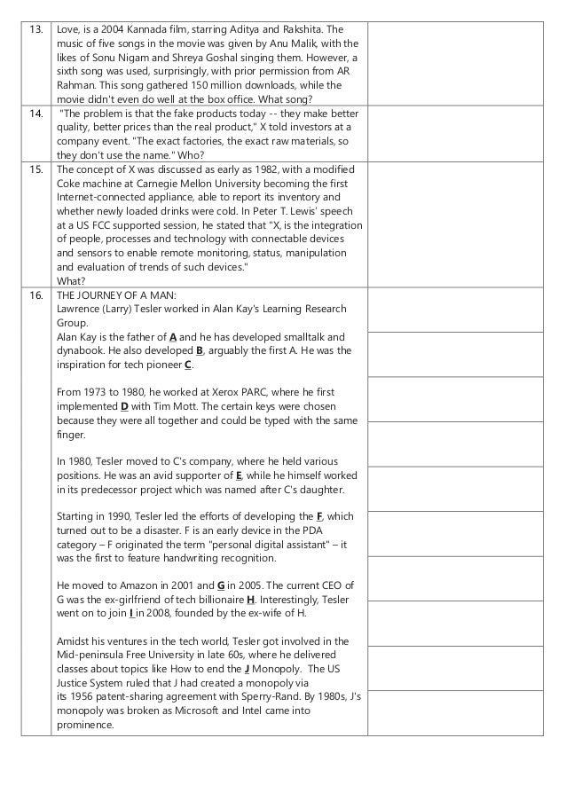 Access 2016 - Open Quiz Prelims Questions+Answers