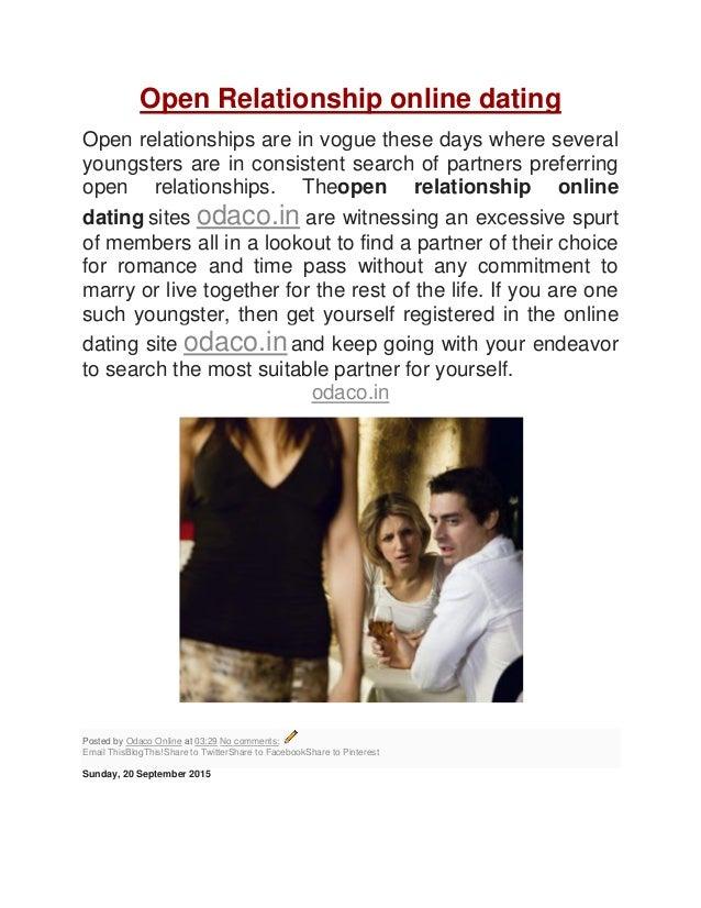 Open relationship online dating