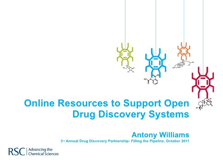 Online Resources to Support Open Drug Discovery Systems Antony Williams 3 rd  Annual Drug Discovery Partnership: Filling t...