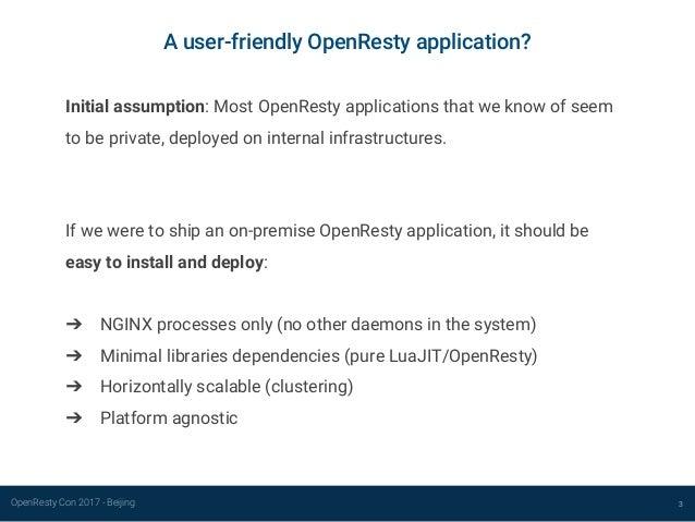 Developing a user-friendly OpenResty application Slide 3