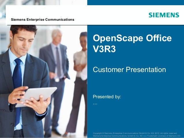 Siemens Enterprise Communications                                                     OpenScape Office                    ...
