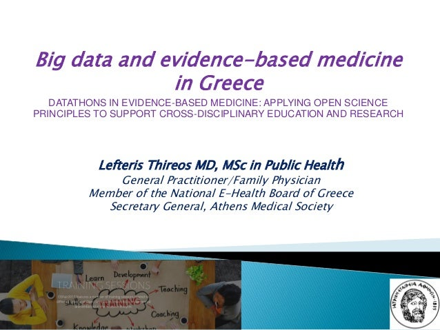 Lefteris Thireos MD, MSc in Public Health General Practitioner/Family Physician Member of the National E-Health Board of G...