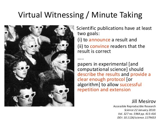 Scientific publications have at least two goals: (i) to announce a result and (ii) to convince readers that the result is ...