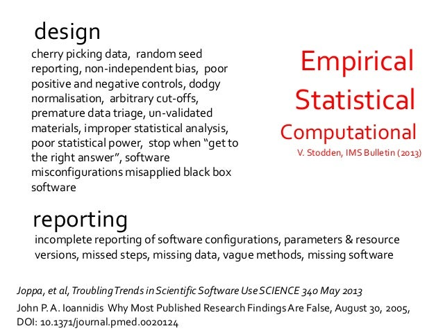 Broken software, broken science • GeoffreyChang, Scripps Institute • Homemade data-analysis program inherited from another...