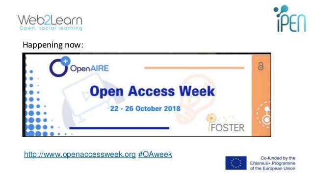 Happening now: http://www.openaccessweek.org #OAweek