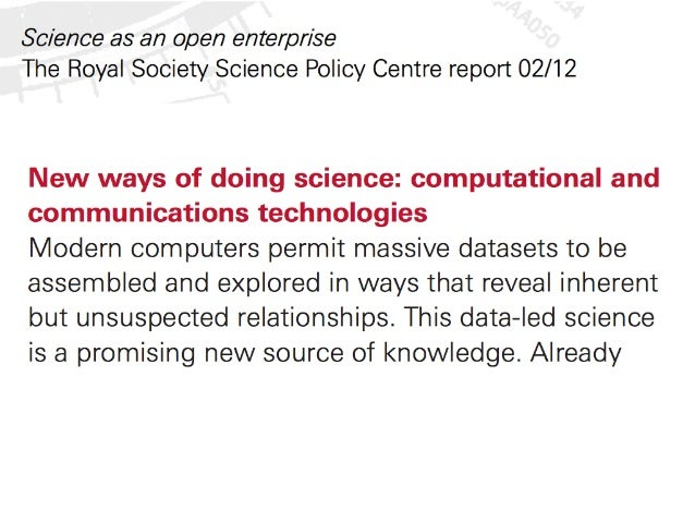 Science in the context of journals, Open, and the future Slide 3