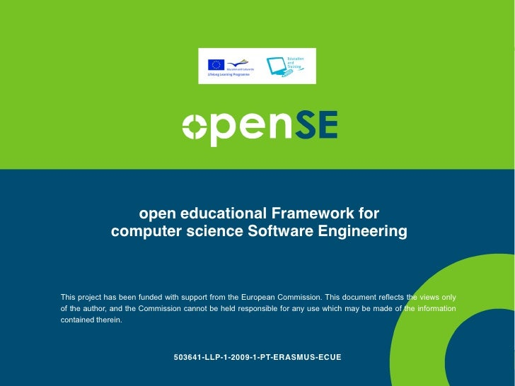 open educational Framework for              computer science Software Engineering    This project has been funded with sup...