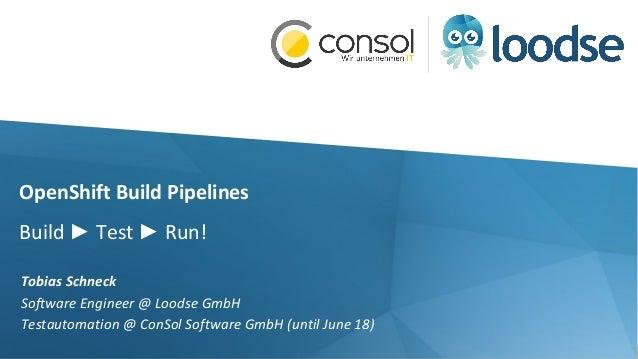 OpenShift Build Pipelines @ Lightweight Java User Group Meetup