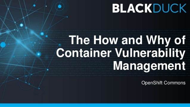 The How and Why of Container Vulnerability Management OpenShift Commons