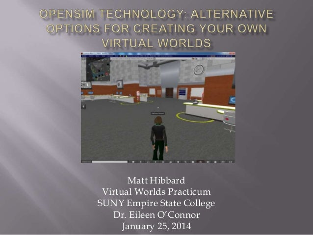 Matt Hibbard Virtual Worlds Practicum SUNY Empire State College Dr. Eileen O'Connor January 25, 2014