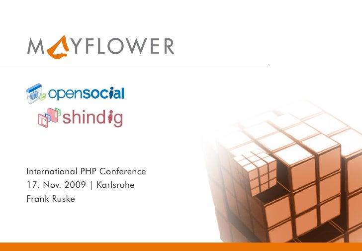International PHP Conference 17. Nov. 2009 | Karlsruhe Frank Ruske