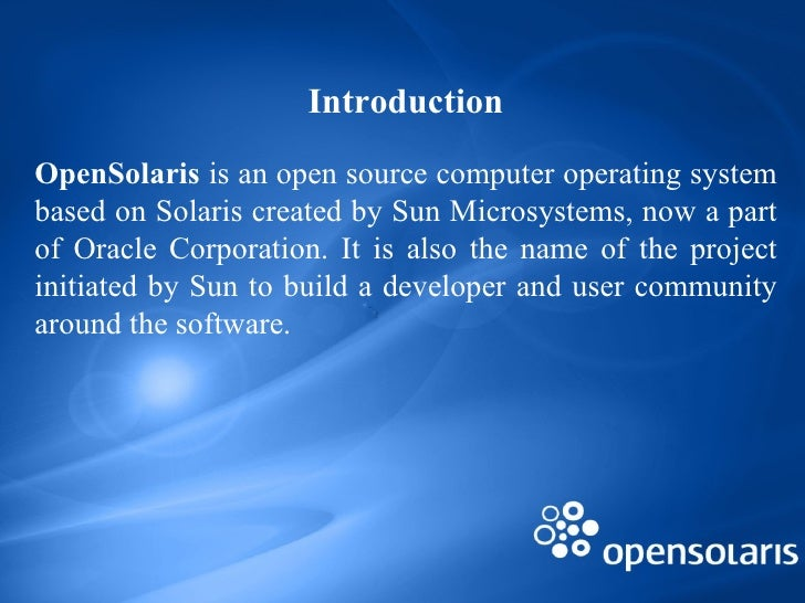 Open solaris (final)