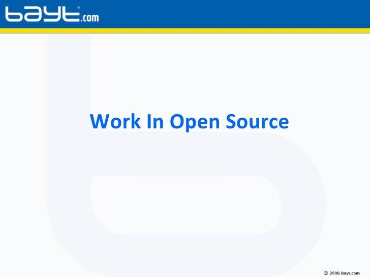 Work In Open Source