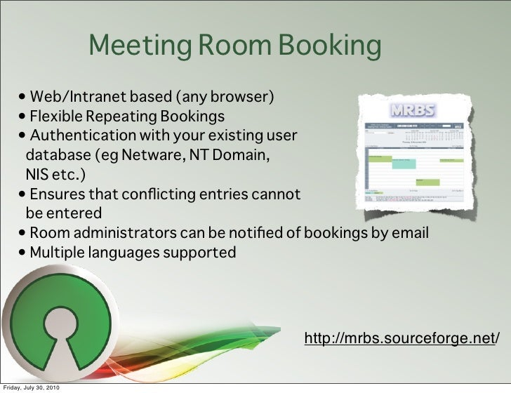 Free Software Meeting Room Booking